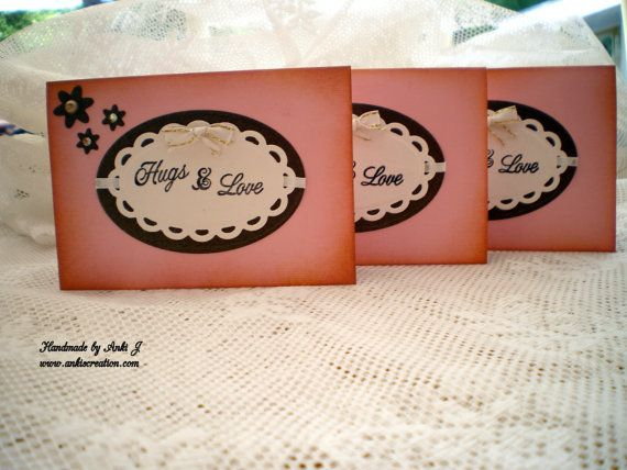 Posh Handemade Note Card with envelops by Ankis Creation