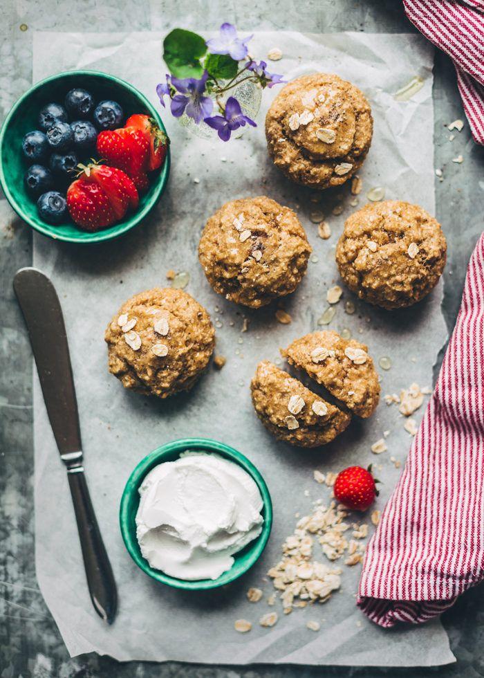 Frukostmuffins med banan och jordnötssmör - Evelinas Ekologiska