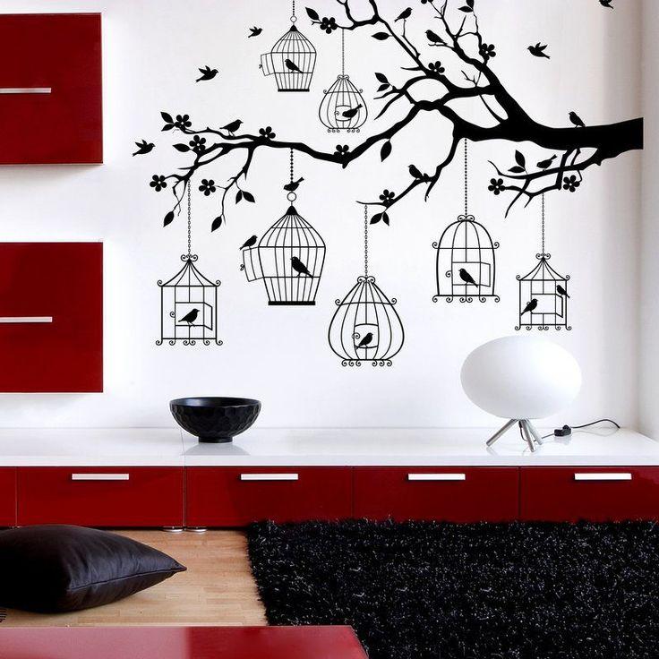 (3364n) Nálepky na stenu - Veselý konárik   ARTSABLONY.SK