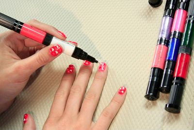 Hot Designs Nail Art Ideas hot neon pink tribal accent nail art by instagrams just1nail bright nail polish tribal prints nail art cool nail designs nail it magazine Nail Art Pen Set Nail Art Designs 2014 Ideas Images Tutorial Step By Step Flowers Pics Photos Wallpapers