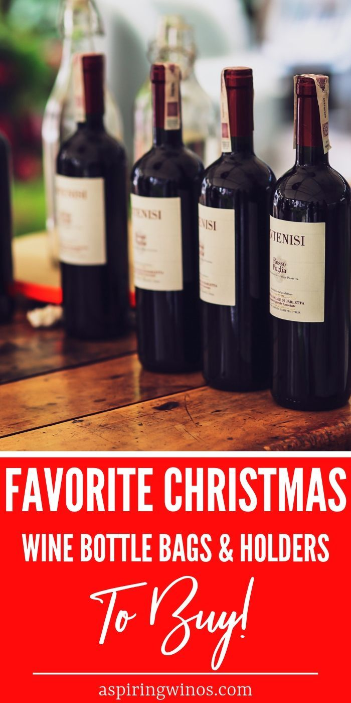 Our 20 Favorite Christmas Wine Bottle Bags And Holders Christmas Wine Bottles Christmas Wine Gifts For Your Boyfriend