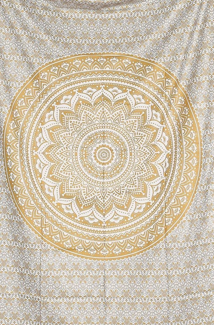 Bedspread designs texture - Amazon Com Jaipur Handloom Exclusive Twin Golden Ombre Tapestry Ombre Bedding