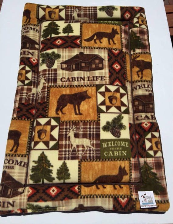 Cabin Life Dog Bed, Crate Dog Mat, Brown Puppy Bed, Kennel Dog Pads, Big Dog Bed, Welcome to the Cabin, Puppy Bedding, Woodland Lodge Gifts #CrateDogMat #KennelDogPads #BrownPuppyBed #CatChairCover #LodgeDecor #PuppyBedding #CabinLifeDogBed #BigDogBed #WoodlandLodgeGifts #DogCratePad