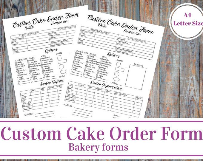 Best 25+ Cake order forms ideas on Pinterest Order cake, Cake - cupcake order form
