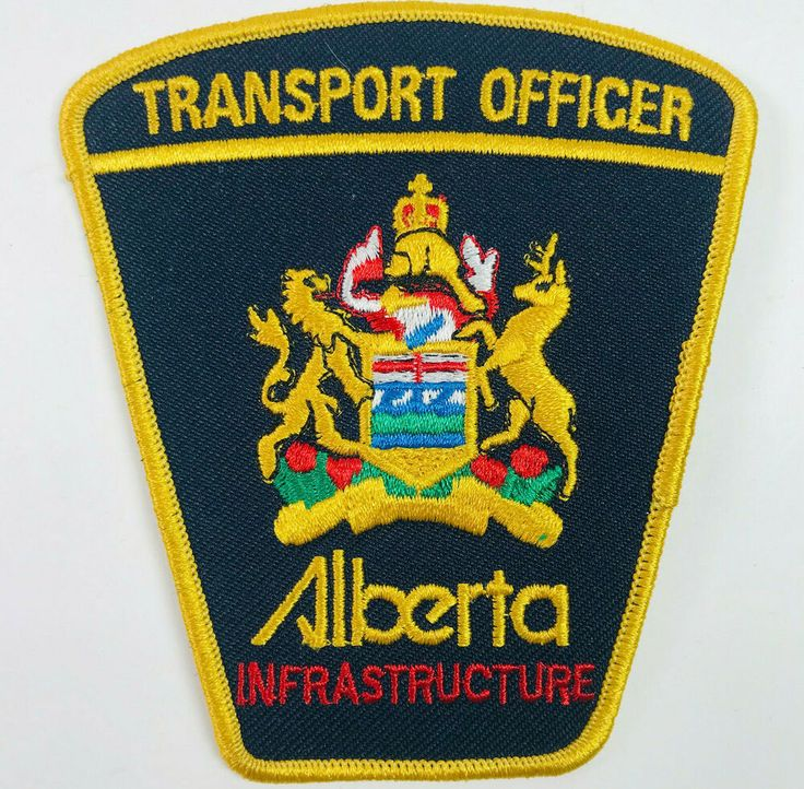 Transport Officer Infrastructure Alberta Canada Patch in