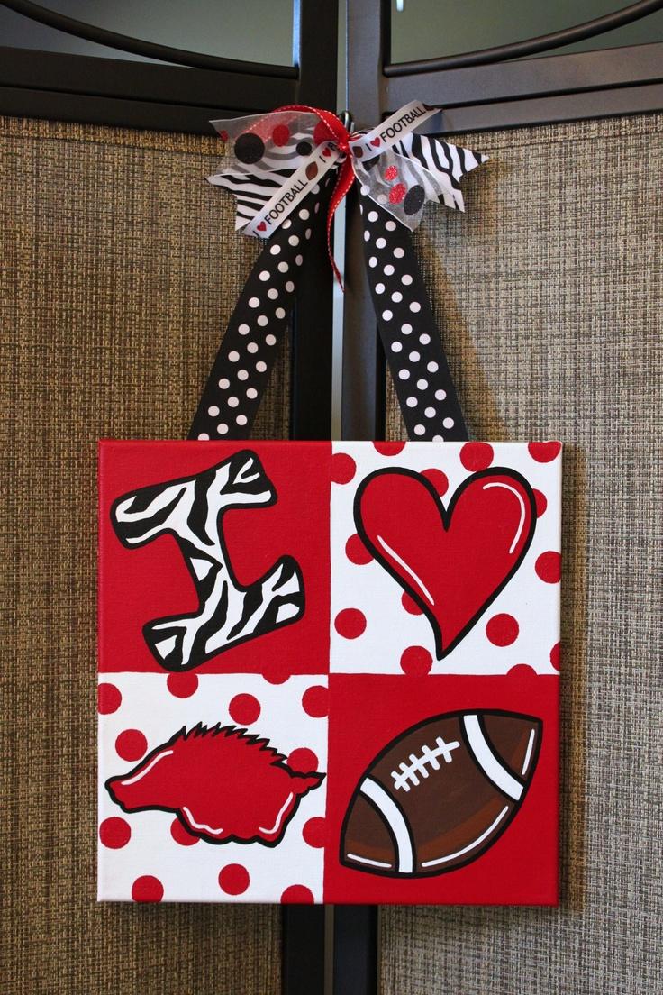 Cute : Arkansas And Alabama, Pigs Sooie, Cute Ideas, Arkansas Razorbacks, Woo Pigs, Razorbacks Football, Football Paintings Ideas, Football Crafts Ideas, Favorite Team