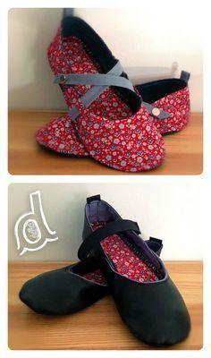 Suivez le tuto et confectionnez vos propres chaussons http://dodiladodu.canalblog.com/pages/pas-a-pas-des-chaussons/30950631.html