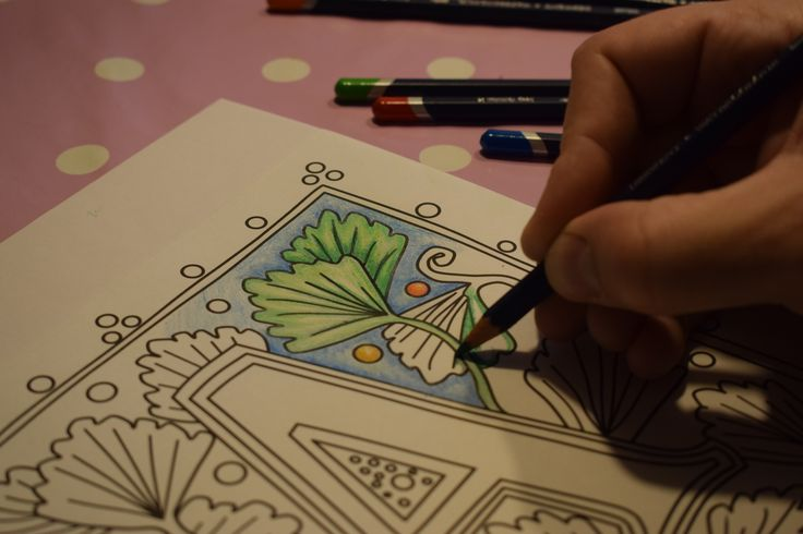 The letter A from Illuminated colouring by David Radcliffe