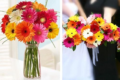 Gerber Daisy Wedding Centerpiece Ideas | Bouquet & centerpiece ideas with Gerber Daisies | One dAy my Prince w ...