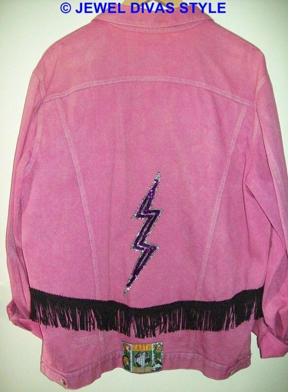 JDS - CREATED: pink denim jacket that i decorated - http://jeweldivasstyle.com/in-my-life-i-am-a-designer/