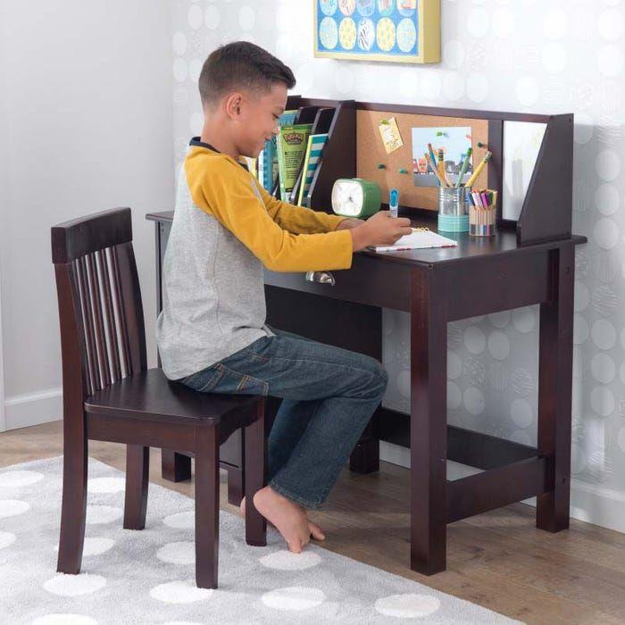 Study Desk With Chair Espresso Kids Desk Desk Study Desk