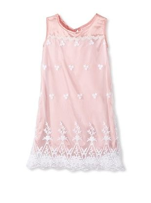 51% OFF Mini Treasure Kids Girl's Cierra Lace Necklace Dress (Pink)