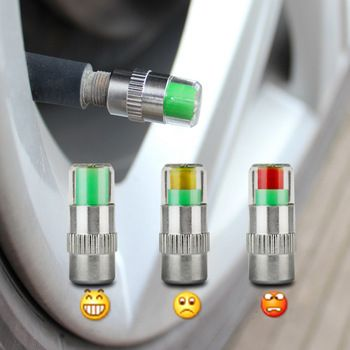 4PCS 2.0Bar 30PSI Car Auto Tire Pressure Monitor Valve Stem Caps Sensor Indicator Eye Alert Diagnostic Tools Kit  Price: 4.45 USD