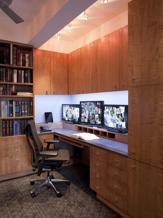 contemporary home office built in desk design pictures remodel decor and ideas. beautiful ideas. Home Design Ideas