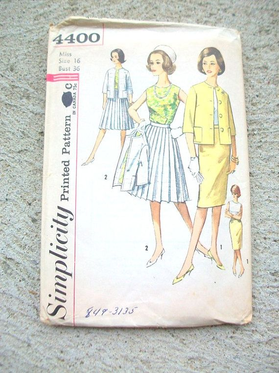 Vintage Dress Pattern Simplicity Dress Pattern by MustardDandelion, $15.00