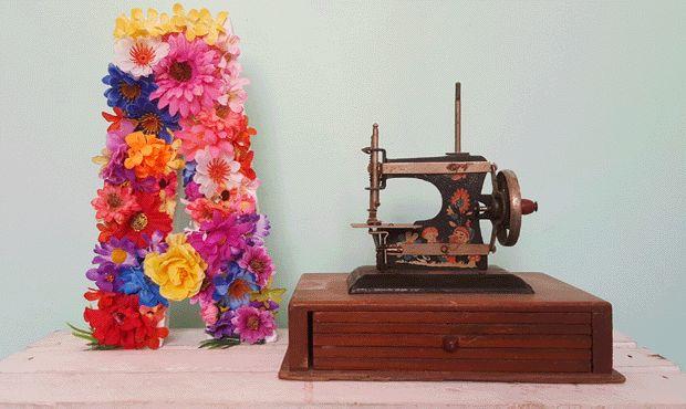 Letras decoradas com flores: confira o passo a passo