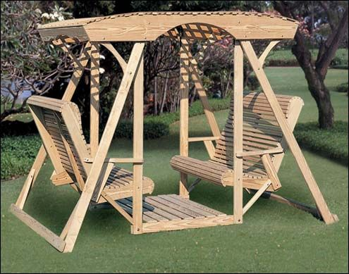 19 Best Double Glider Swing Construction Ideas Images On