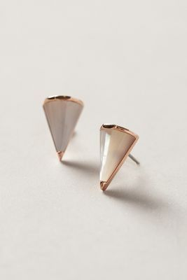 Mother of Pearl Rose Gold Earrings by Sarah Magid