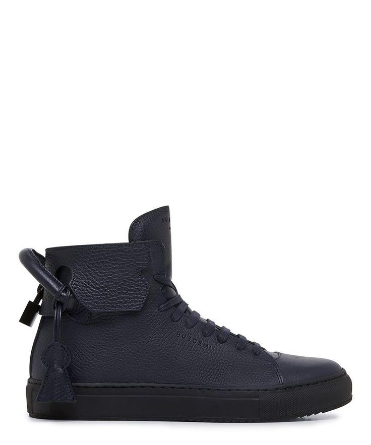 Buscemi 125mm Navy High Top Sneaker - Sneakerboy