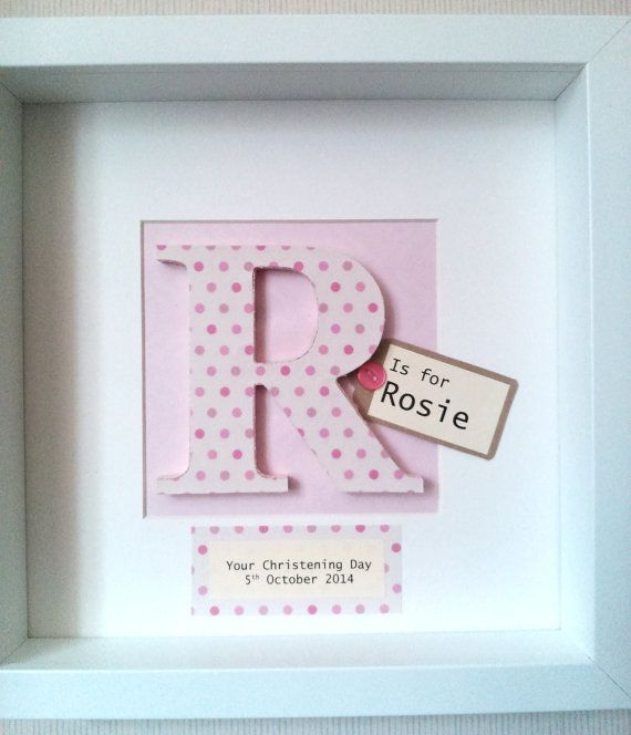 Personalised Wooden Letter Picture on Etsy, $32.99