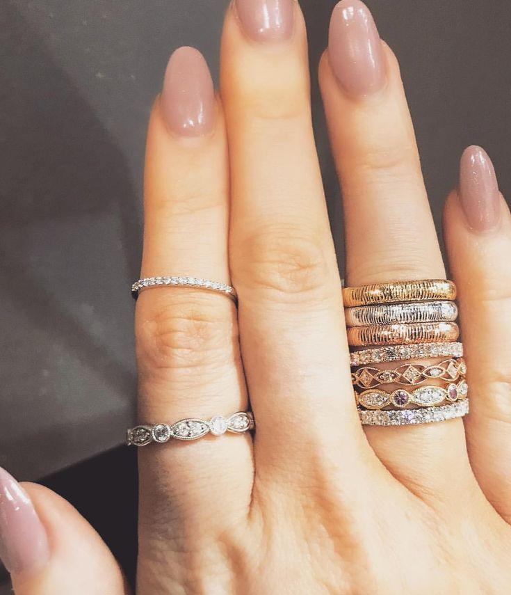 "156 Likes Lannah Dunn Jewellery House (@lannahdunn) on Instagram: ""{ DIA- BANDS } . . . . . . #LDdesigns #ArtDeco #ArtDecoEngagementRings #TattersallsArcade…"""