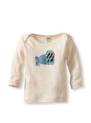 53% OFF Cate & Levi Baby Walrus Long Sleeve Lap Tee (Blue)