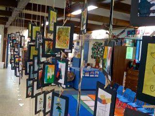 "Art Show Display Idea --Hanging art ""room divider"" thingamajiggle"