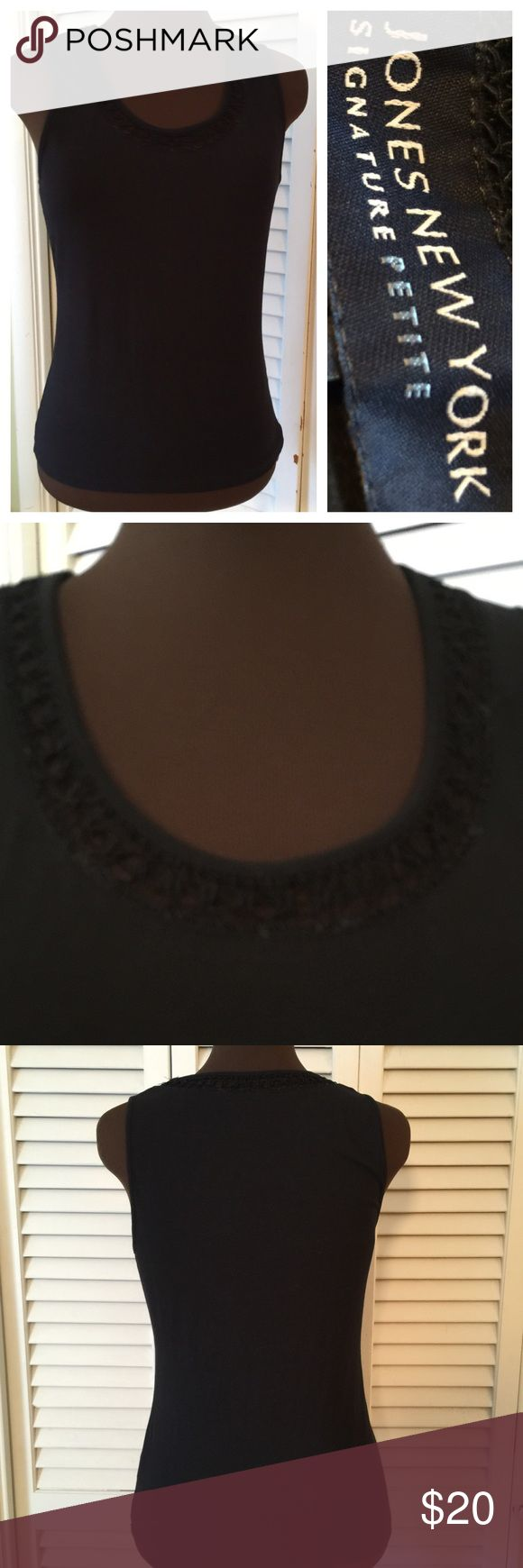 Nice sleeveless Top Beautiful with a little trim around neckline.  Great condition. Liz Claiborne Tops Tunics