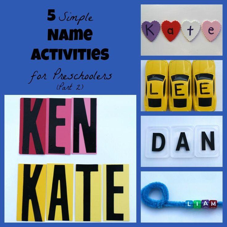 5 Simple Name Activities for Preschoolers (Part 2)