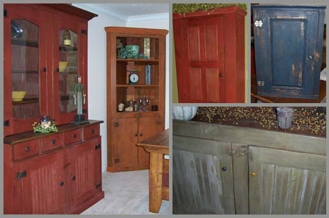 The bottom left is how I want to paint a buffet cabinet to place in my hall.