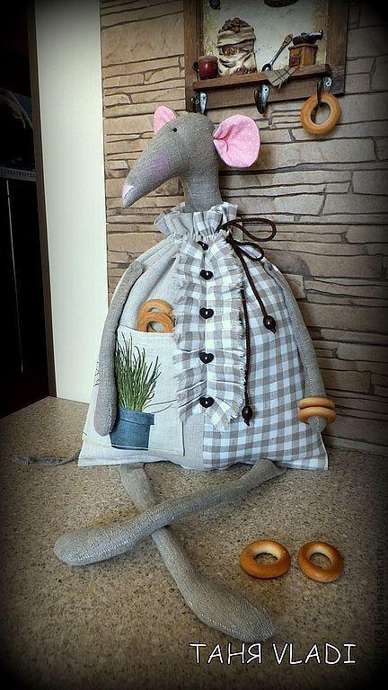 Купить У вас на кухне МЫШЬ !!!! (пакетница) - серый, мышка, мышь, крыса, крыска