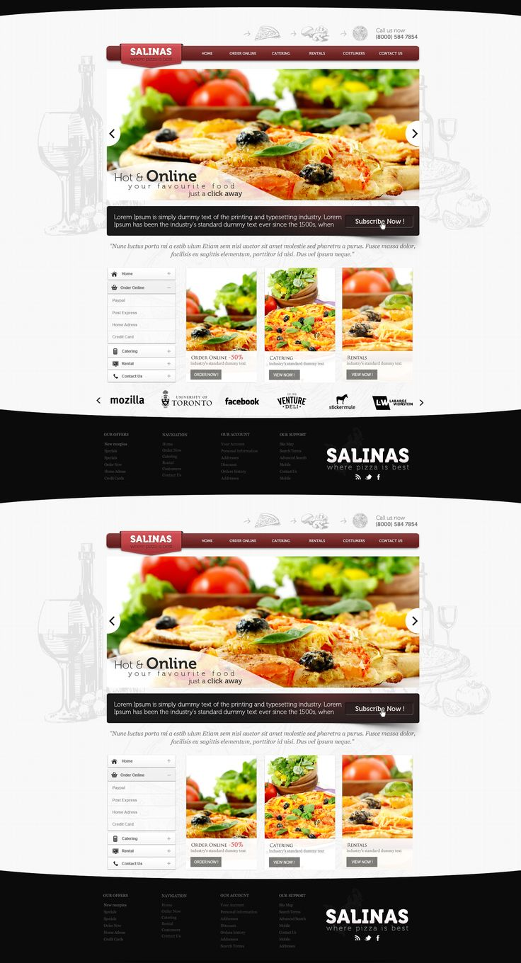 Pizza Business Web Design  by *vasiligfx  #webdesign