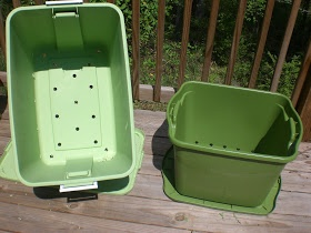 Back Porch Garden: Rubbermaid Container Garden