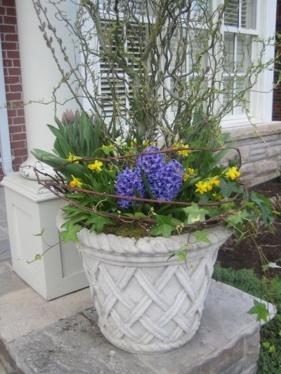 Spring Planter At Front Door For The Home Pinterest