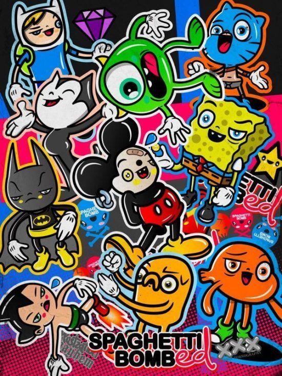 Contoh Jenis Gambar Ilustrasi Karya Sastra Jessy Gallery Di 2020 Seni Doodle Ilustrasi Graffiti Art