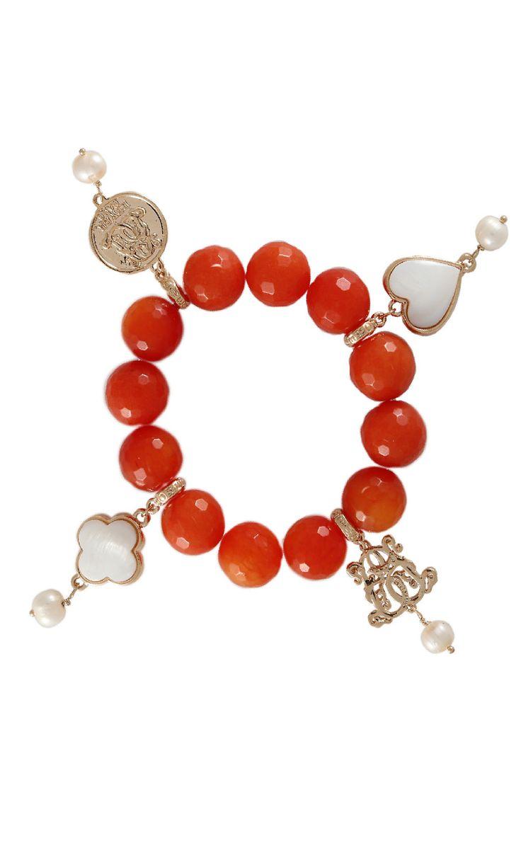 Lucky Charm Bracelet - Orange Agate #designerbracelet #designerjewellery #designerjewelry #jewellery #bracelet #Duchess #fashion #designerfashion