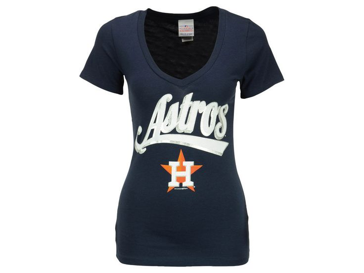 Get chic for the Houston boys with this cute blue tshirt, pair it with some  sexy white jeans, and top off the style with Astros jewelry and a team  purse.