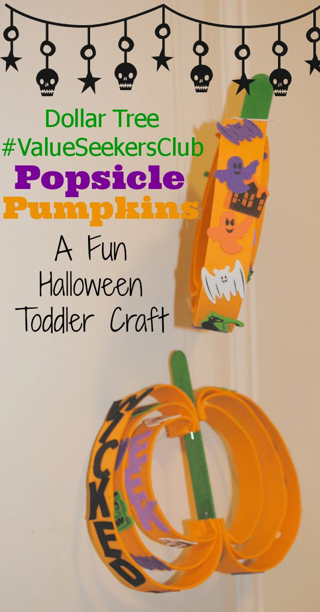 dollar tree pumpkin craft and 100 gift card halloween crafts for toddlers cheap - Cheap Halloween Crafts