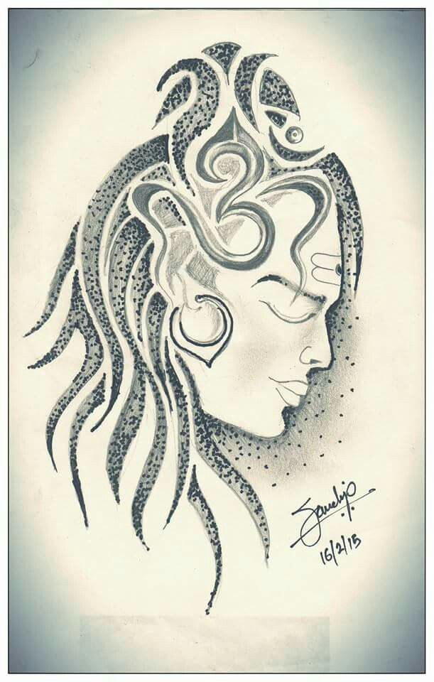 Shiva Tattoo Drawing by Sandip Uttam