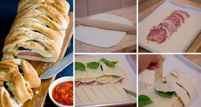 Slaný italský koláč - Stromboli | NejRecept.cz