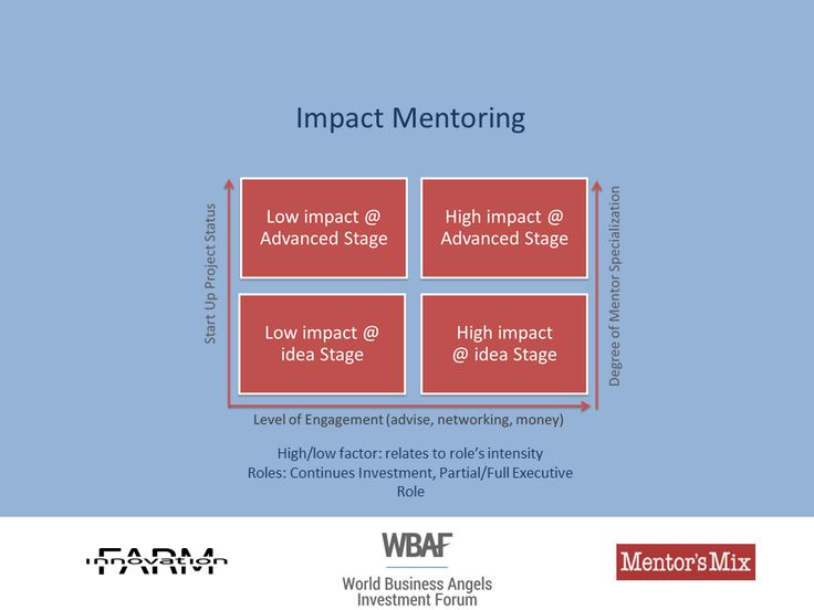 Impact Mentoring Classification by Mentor's Mix #mentoring #businessangels