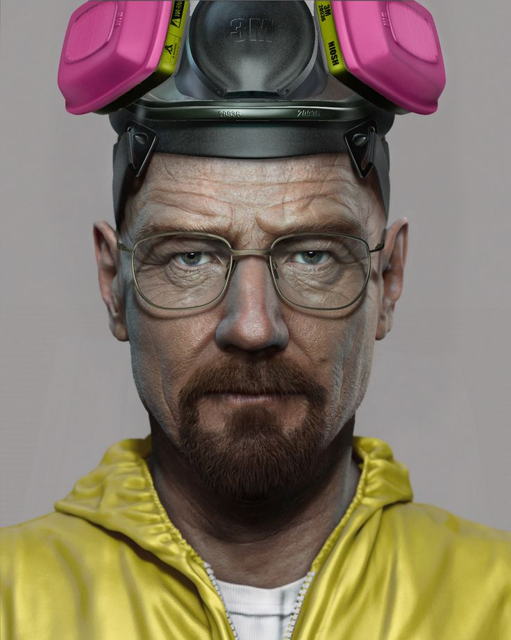 Amazing digital illustration by Frank Tzeng. Breaking Bad. Walt.