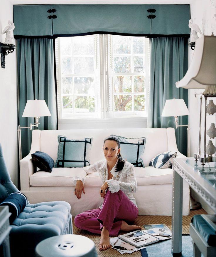 Designer Mary McDonald makes a tiny little space elegant and posh yet cozy!