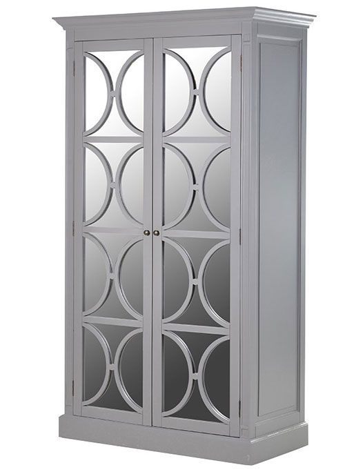 Portobello Grey Mirrored Wardrobe