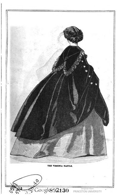 The Virginia Mantle. Peterson's Magazine, January 1861. | In the Swan's Shadow