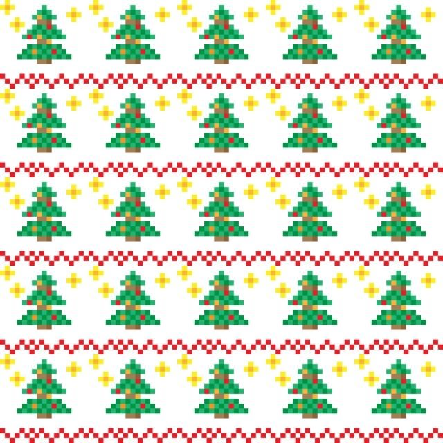 Christmas Patterns In Pixel Art Style Christmas Pattern Background Png And Vector With Transparent Background For Free Download