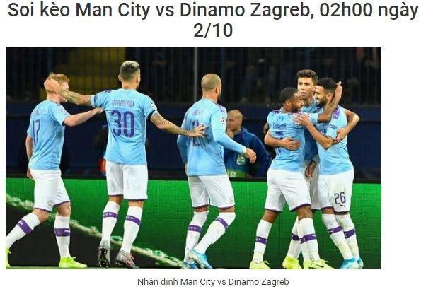Soi Keo Man City Vs Dinamo Zagreb 02h00 Ngay 2 10 Uefa Champions League Manchester City Manchester Bong đa