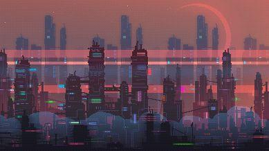 pixel art city background Google Search Anime estético