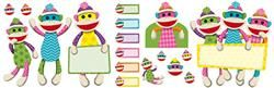 Colorful Sock Monkey Bulletin Board Set