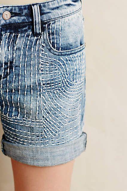 Pilcro Embroidered Denim Roll-Ups #anthroregistry
